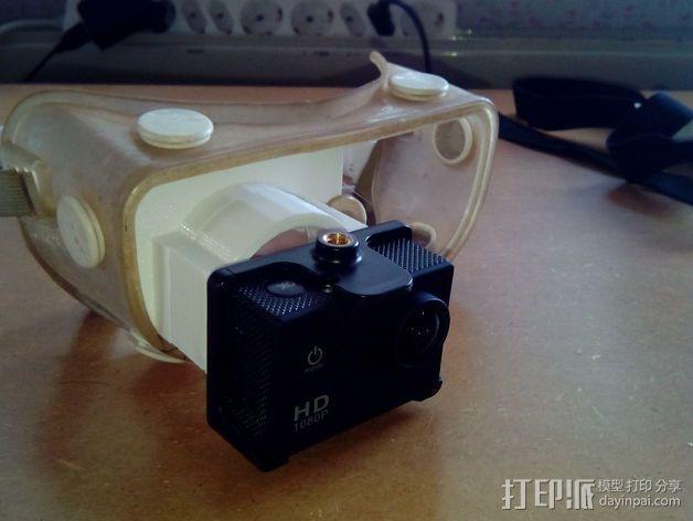 便携式GoPro相机架 3D模型  图6