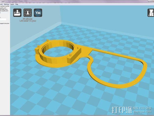 便携式GoPro相机架 3D模型  图8