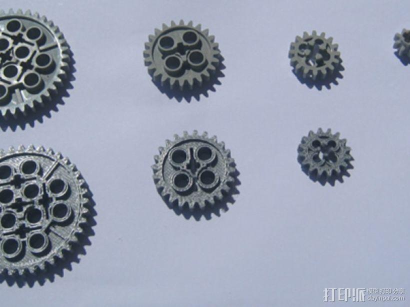 常见齿轮组 3D模型  图1