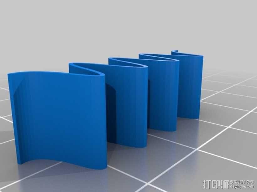 衣夹/夹子 3D模型  图4