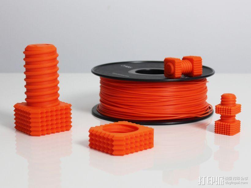 螺钉和螺母 3D模型  图3