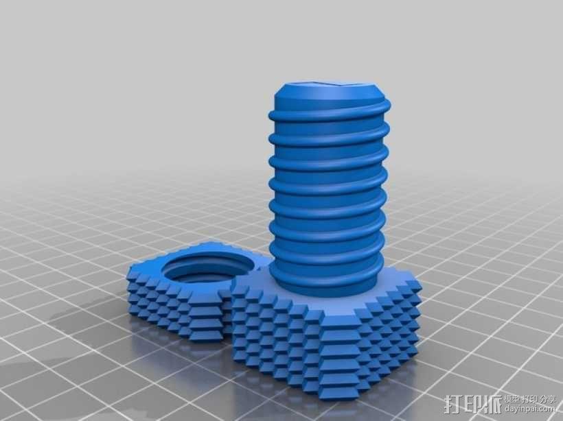 螺钉和螺母 3D模型  图5