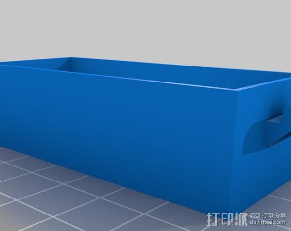 迷你存储箱/存储架 3D模型  图2