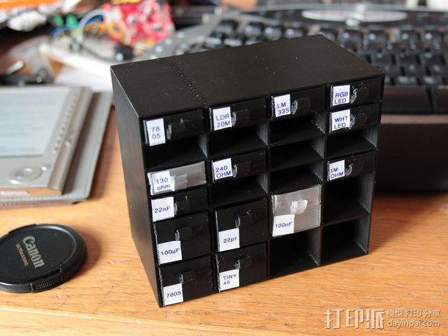 迷你存储箱/存储架 3D模型  图7