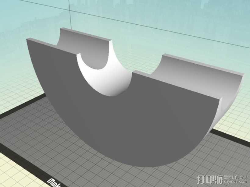 吉他琴颈 支架 3D模型  图1