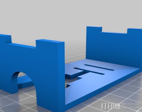 研磨机置放保护架 3D模型  图1