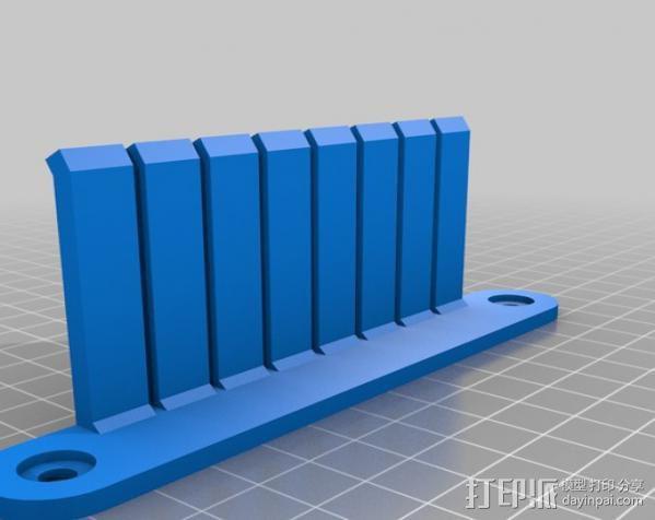 跳线收纳架 3D模型  图3