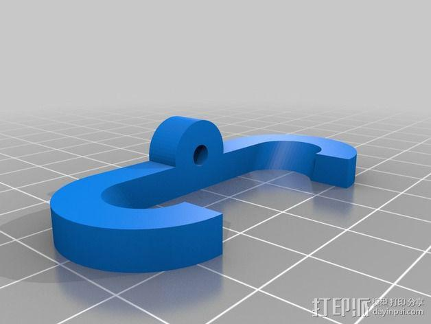 定制化老虎钳固定架 3D模型  图3