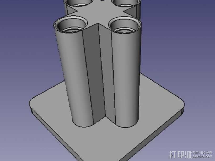移液器支架  3D模型  图3