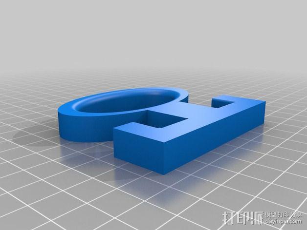 食品杂货袋手柄 3D模型  图2