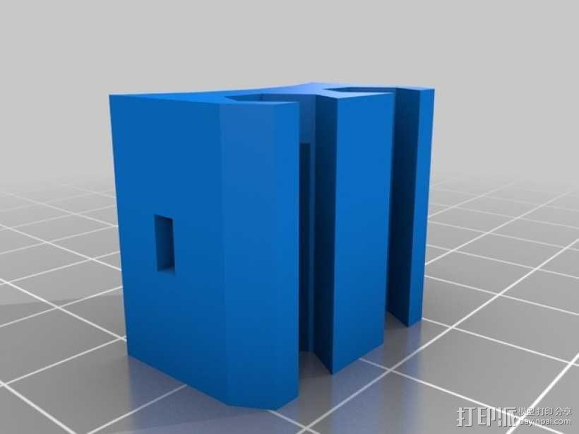 Li2000充电式螺丝钻钻头夹持器 3D模型  图2