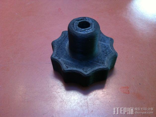 螺丝钻头底座 3D模型  图2