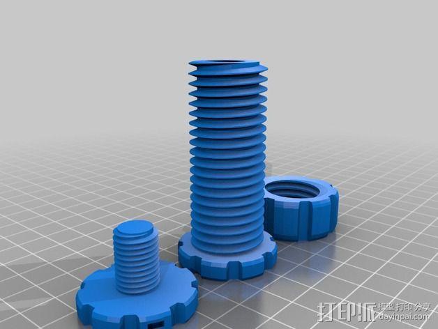 螺丝螺母套件 3D模型  图1