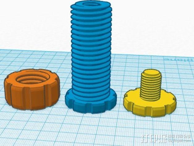 螺丝螺母套件 3D模型  图5