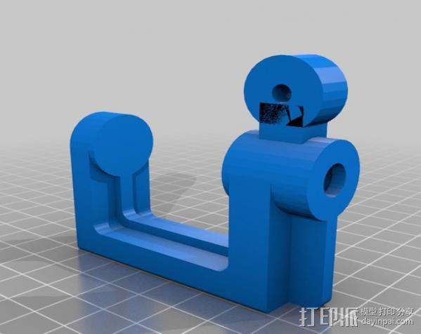 通用螺旋夹钳 3D模型  图2
