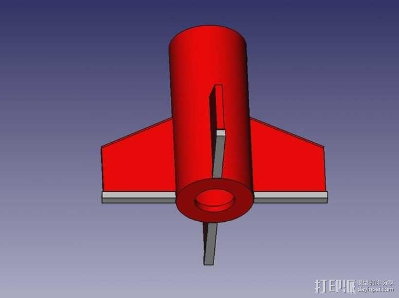 DIY火箭发射器  3D模型  图1