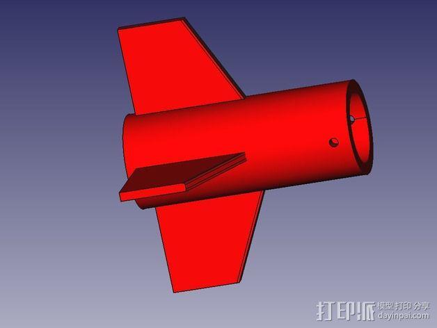 DIY火箭发射器  3D模型  图3