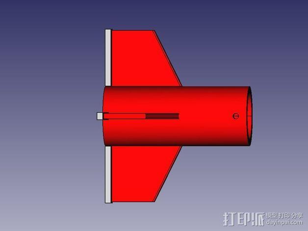 DIY火箭发射器  3D模型  图4