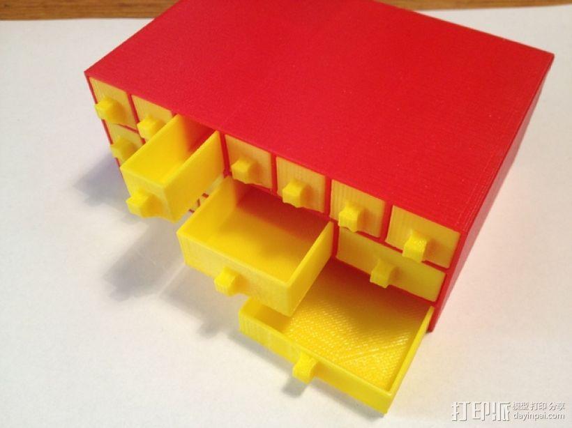 物品收纳柜 3D模型  图1