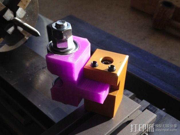 车床螺丝滚刀固定架 3D模型  图3