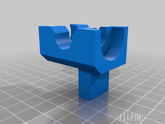 车床螺丝滚刀固定架 3D模型  图2