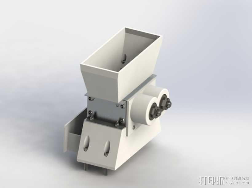 迷你碎纸机外壳 3D模型  图1