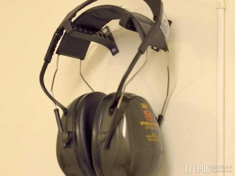 耳罩收纳架 3D模型  图1