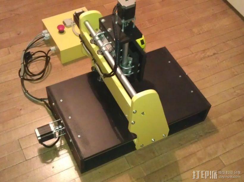 数控雕刻机 3D模型  图2