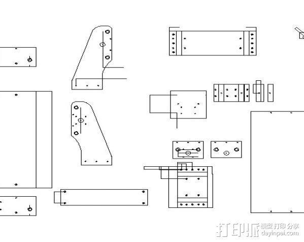 数控雕刻机 3D模型  图1