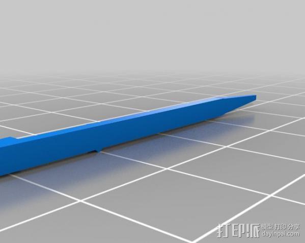 瑞士军刀 牙签 3D模型  图1