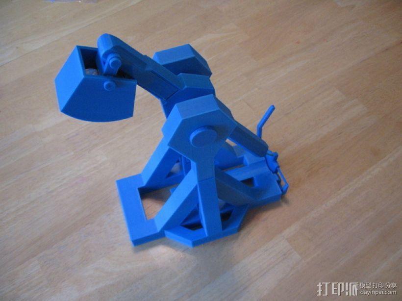 重力抛石机 3D模型  图1