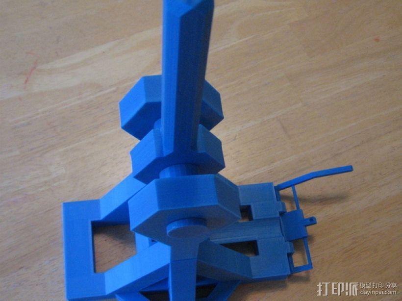 重力抛石机 3D模型  图2
