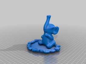 大象 手机架 3D模型