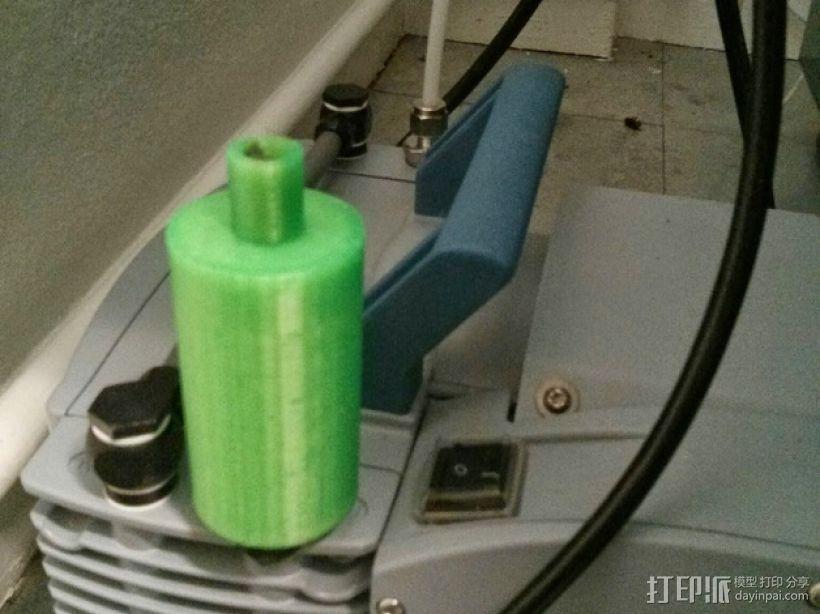 真空泵消音器 3D模型  图1