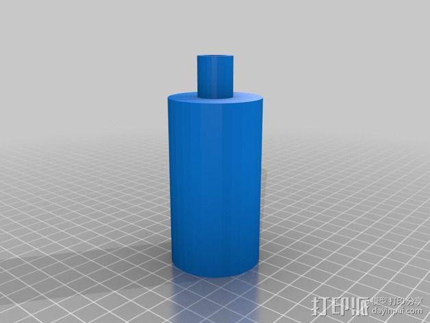 真空泵消音器 3D模型  图2