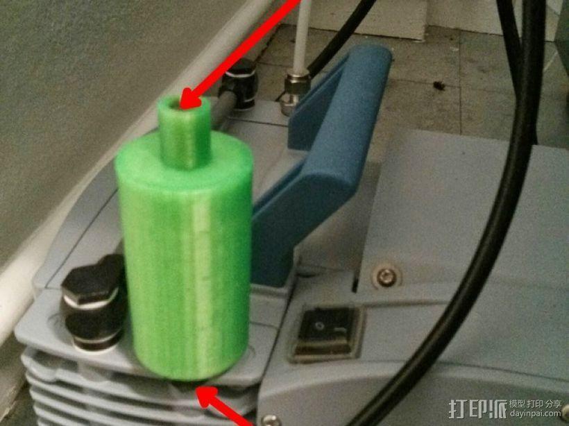 真空泵消音器 3D模型  图6