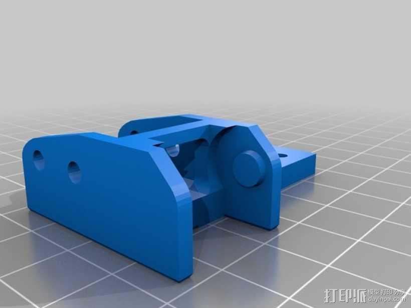 激光切割机X轴安装固定链 3D模型  图4