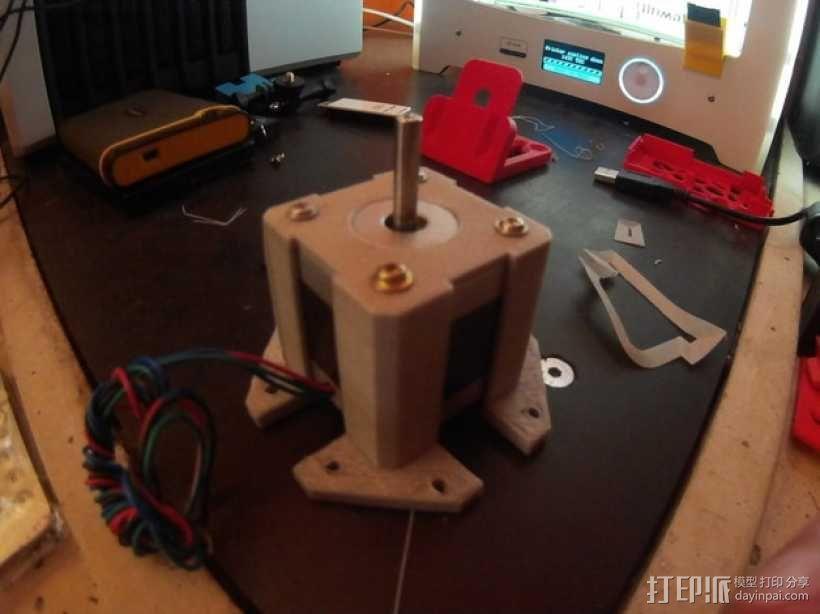 Nema 17步进电机保护套 3D模型  图1