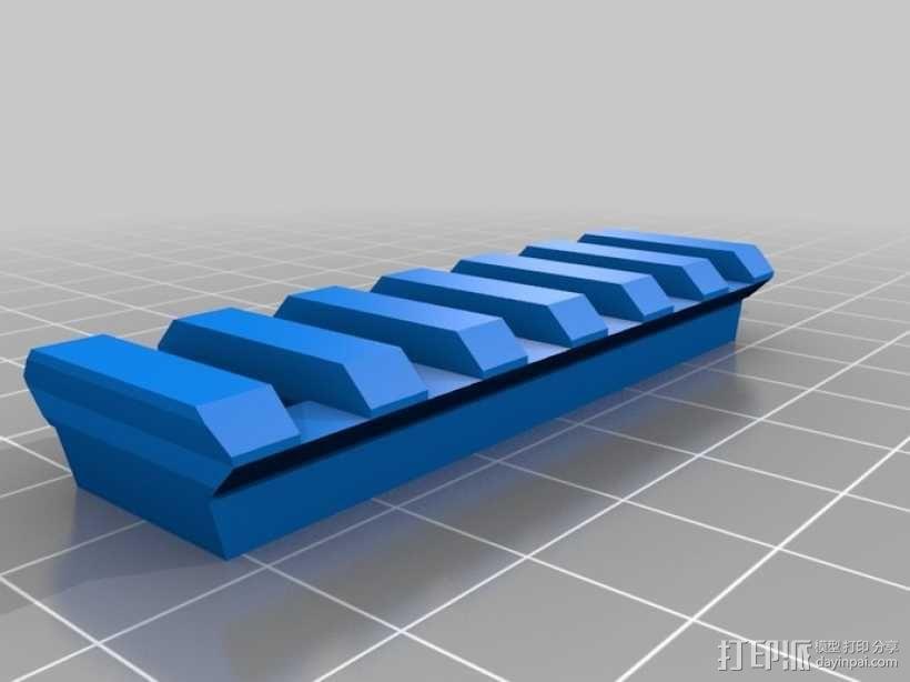 皮卡汀尼导轨  3D模型  图1
