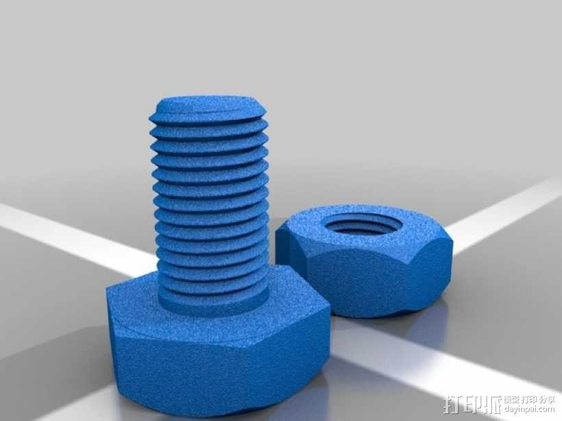 M3螺丝螺母 3D模型  图3