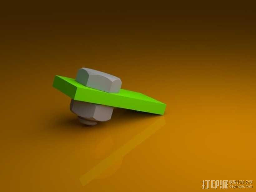 M3螺丝螺母 3D模型  图2