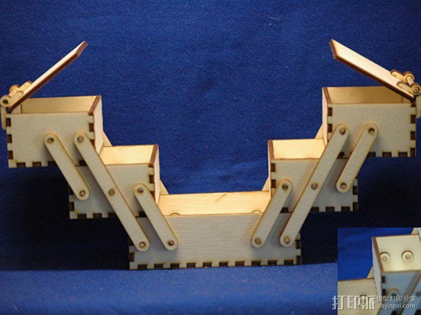 木质工具箱 3D模型  图2