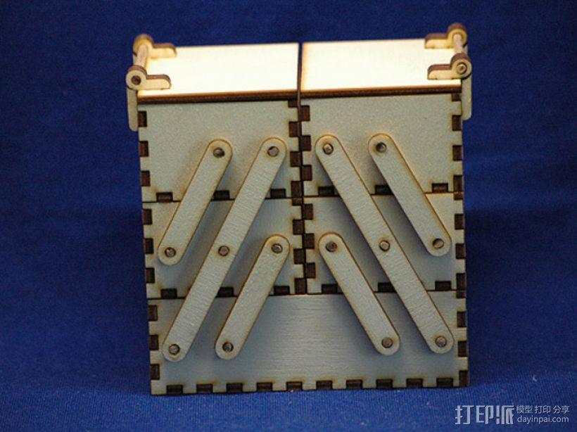 木质工具箱 3D模型  图1
