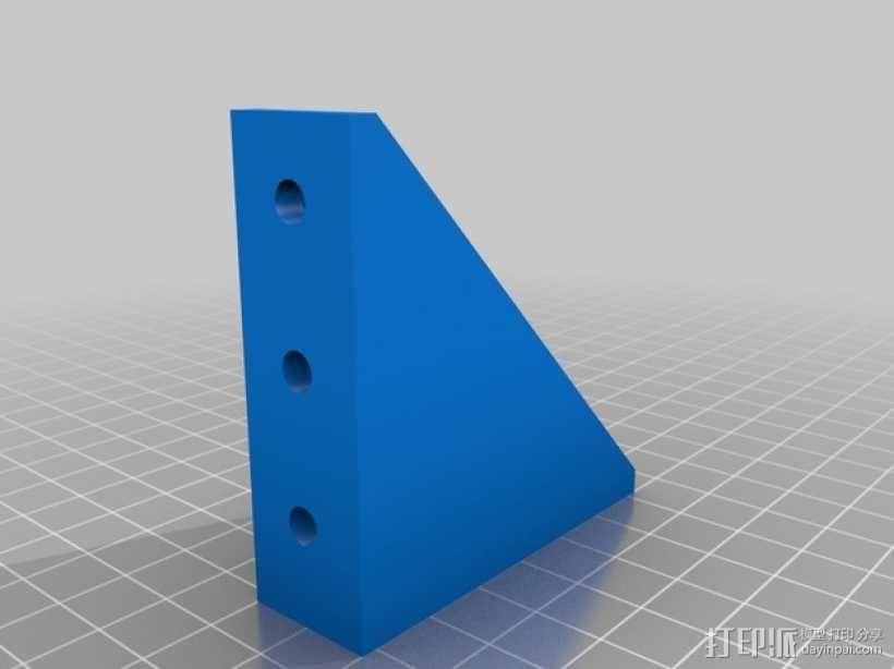 90度T形槽支架 3D模型  图2