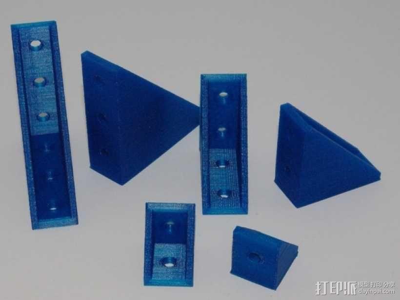90度T形槽支架 3D模型  图1