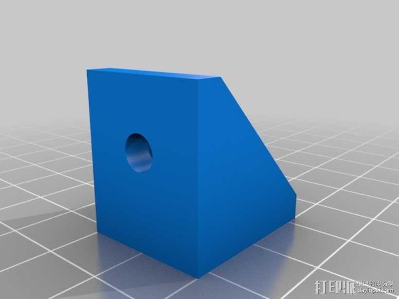 90度T形槽支架 3D模型  图3
