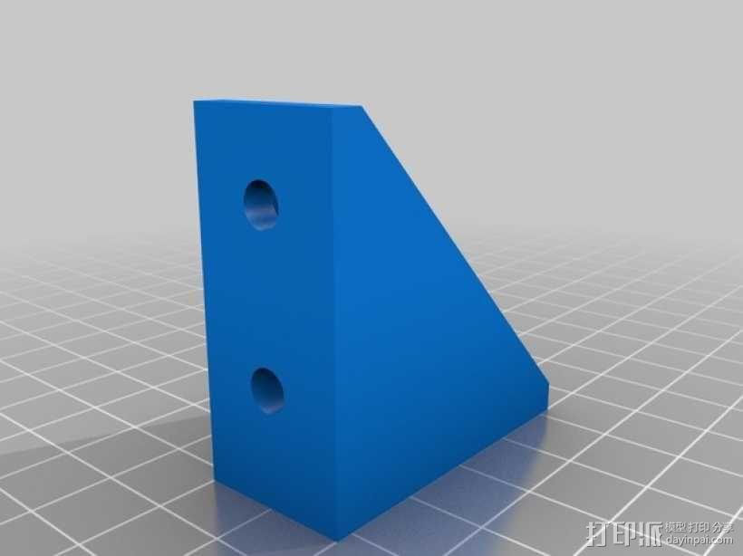 90度T形槽支架 3D模型  图4