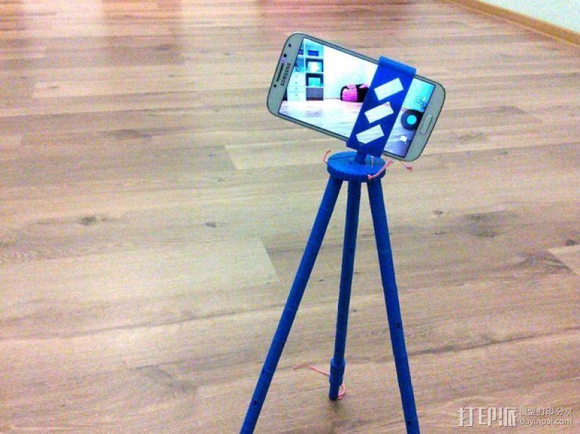 手机 三脚架 3D模型  图1