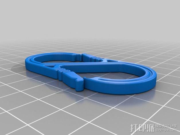 S形竖钩 3D模型  图8