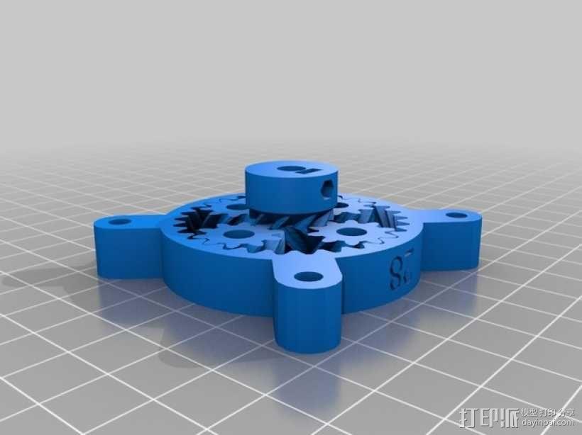 参数化行星齿轮组 3D模型  图2